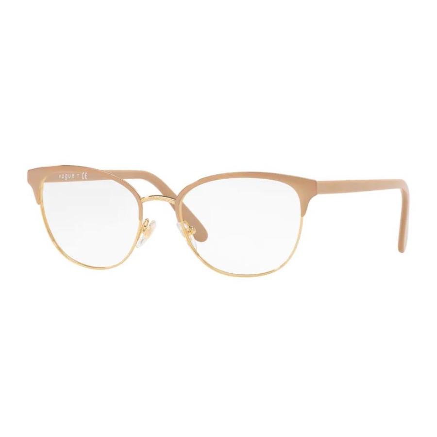 Armação de Óculos Vogue VO4088 Metal Bege e Dourado