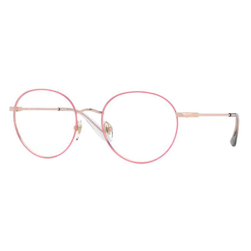 Armação de Óculos Vogue VO4177 Metal Pink com Dourado Rosê