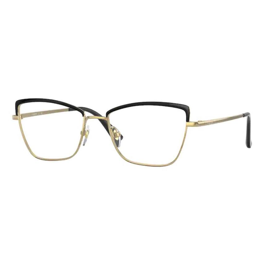 Armação de Óculos Vogue VO4185 Metal Dourado com Preto