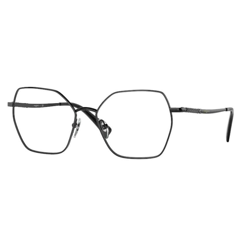 Armação de Óculos Vogue VO4196 Metal Preto Brilho