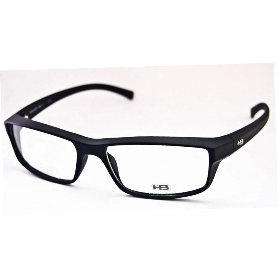 Armação Óculos de Grau HB Polytech M93055 Preto Fosco