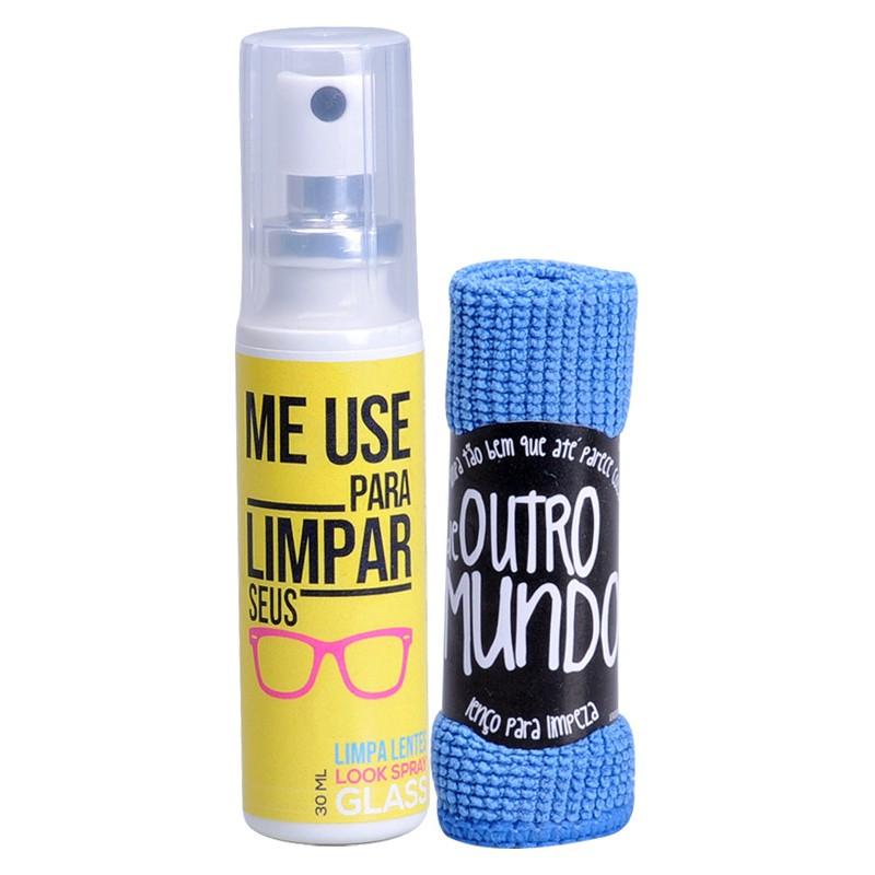 Kit Limpeza - Limpa Lentes 30 ml + Flanela Mágica