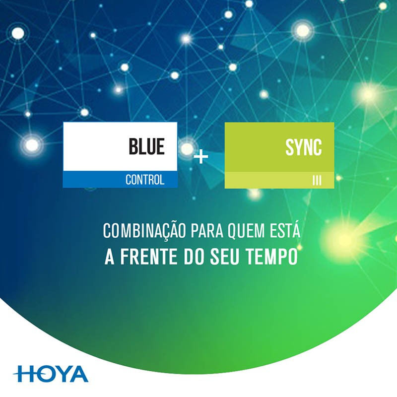 Lente Ocupacional Digital 1.50 Hoya Sync III BlueControl + No Risk