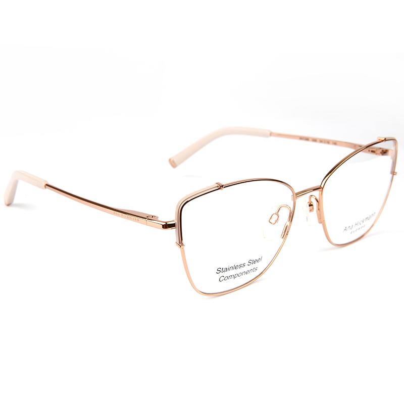 Óculos de Grau Ana Hickmann AH1396 Metal Dourado com Rosa
