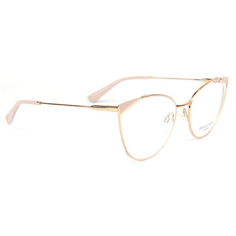 Óculos de Grau Ana Hickmann AH1404 Metal Dourado e Rosa