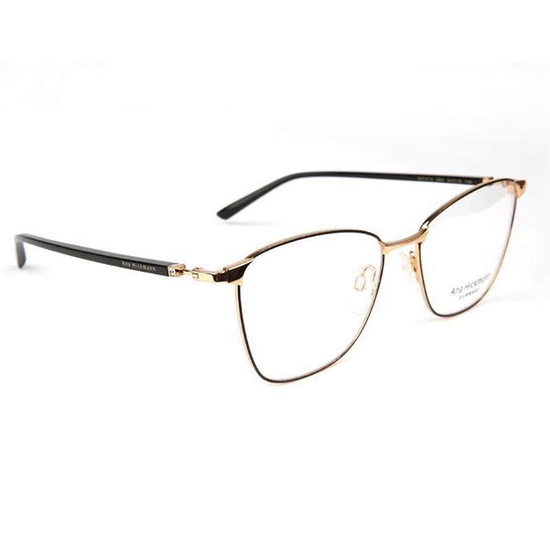 Óculos de Grau Ana Hickmann AH1416 Metal Preto e Dourado