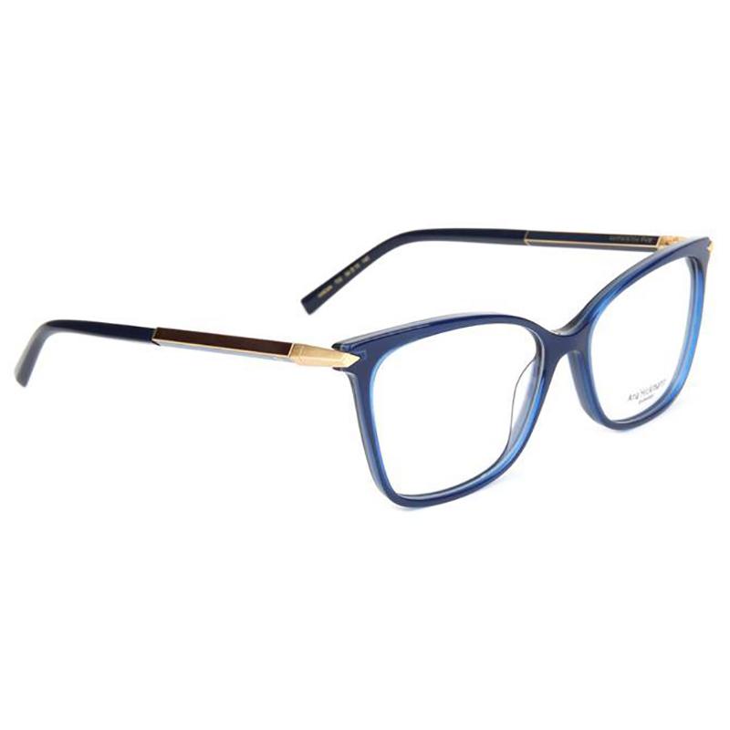Óculos de Grau Ana Hickmann AH6344 Azul Brilho Vira Hastes