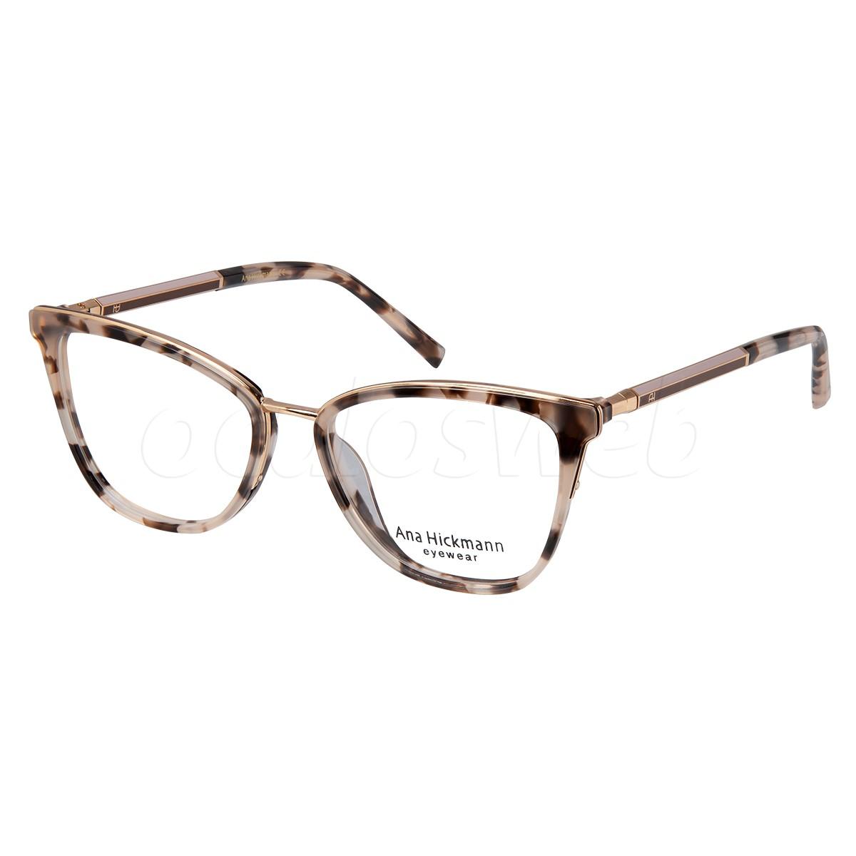 Óculos de Grau Ana Hickmann AH6392 Marrom Demi Vira Hastes