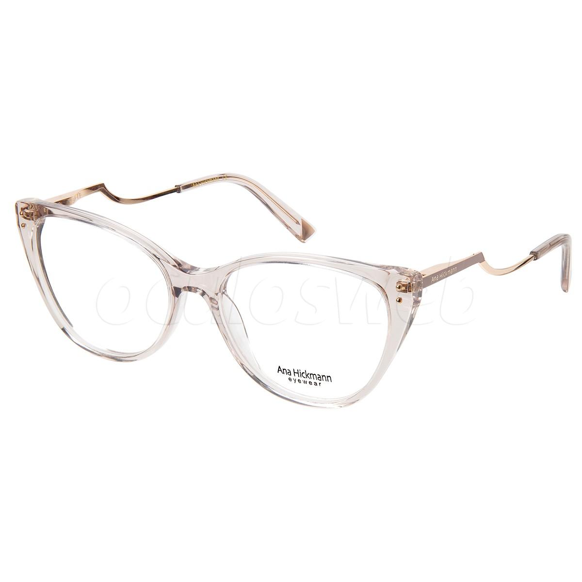 Óculos de Grau Ana Hickmann AH6403 Marrom Translúcido Gatinho