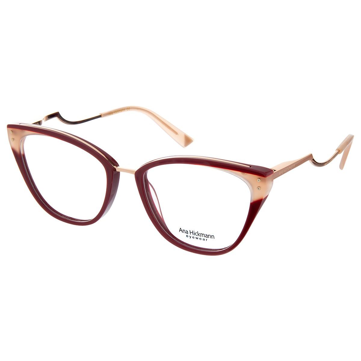 Óculos de Grau Ana Hickmann Gatinho AH6401 Bordô
