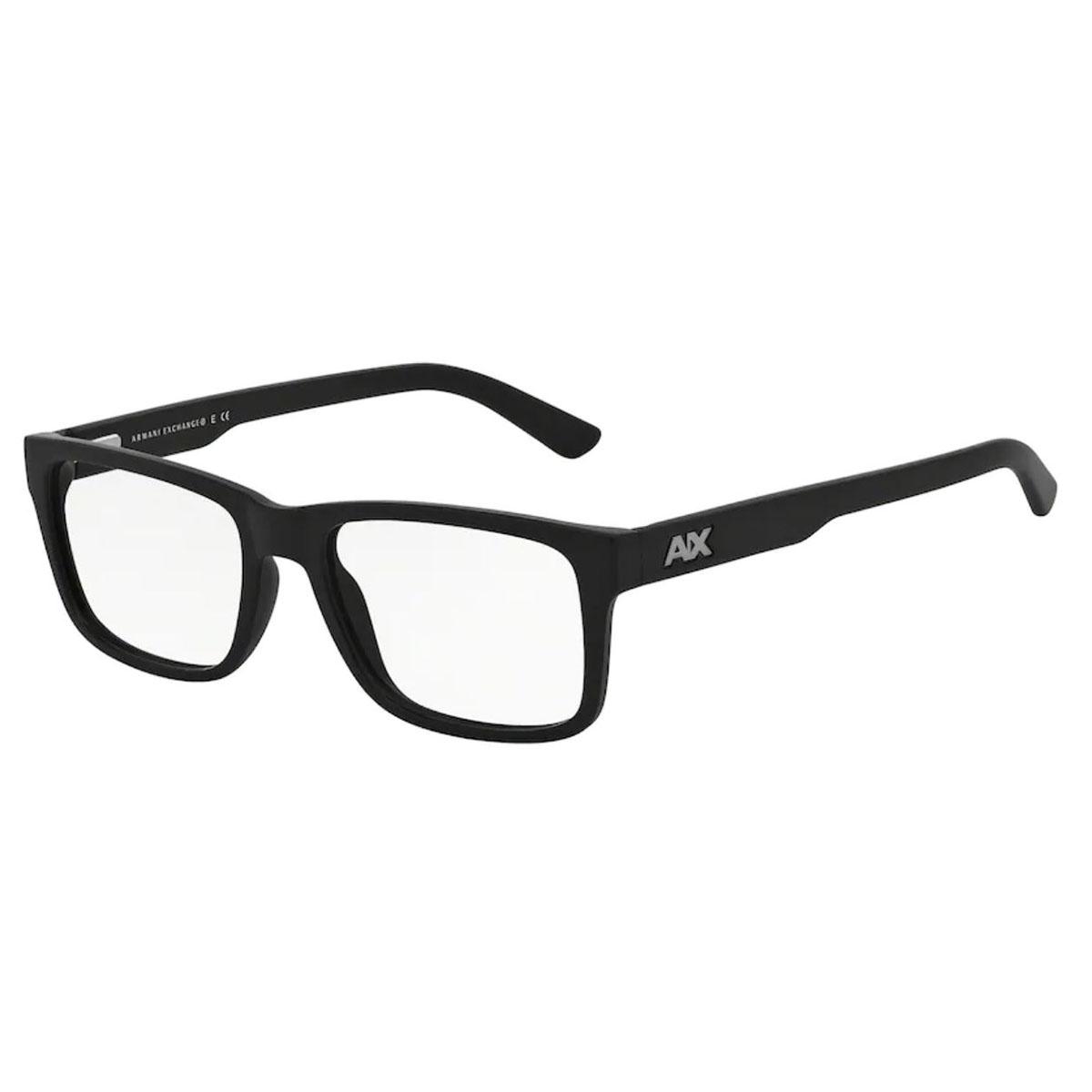 Óculos de Grau Armani Exchange AX3016L Preto Fosco Tamanho 53