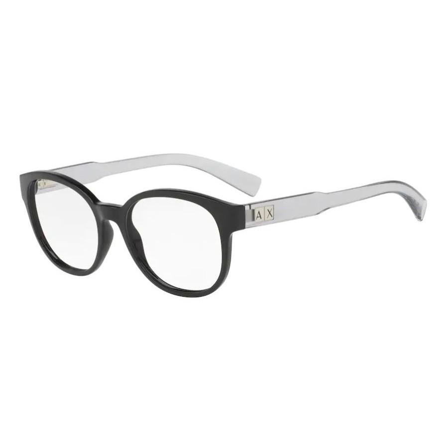 Óculos de Grau Armani Exchange AX3040L Preto Brilho com Cinza