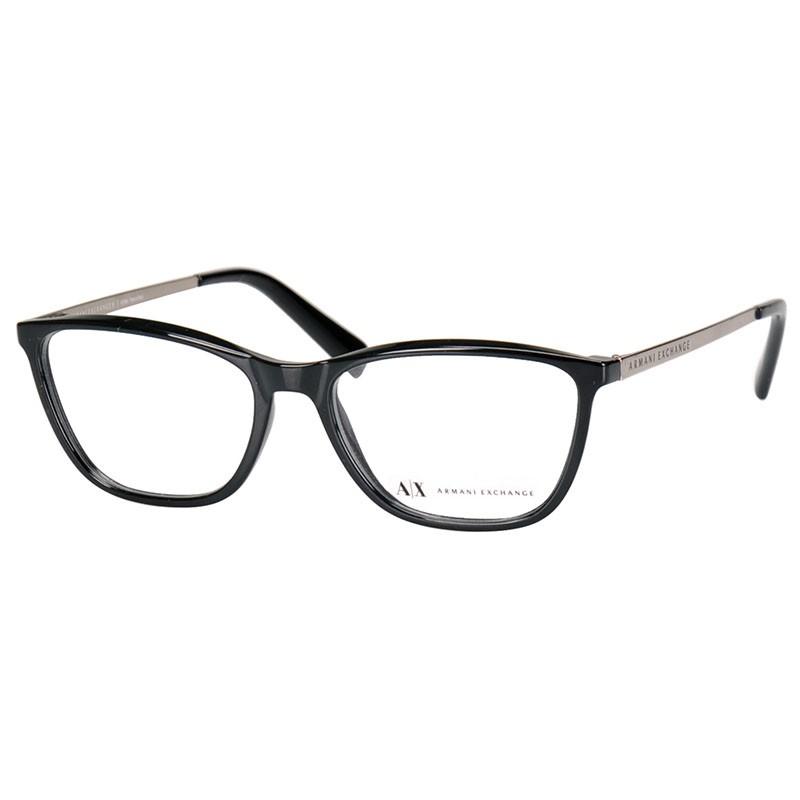 Óculos de Grau Armani Exchange Feminino AX3028L Preto Brilho
