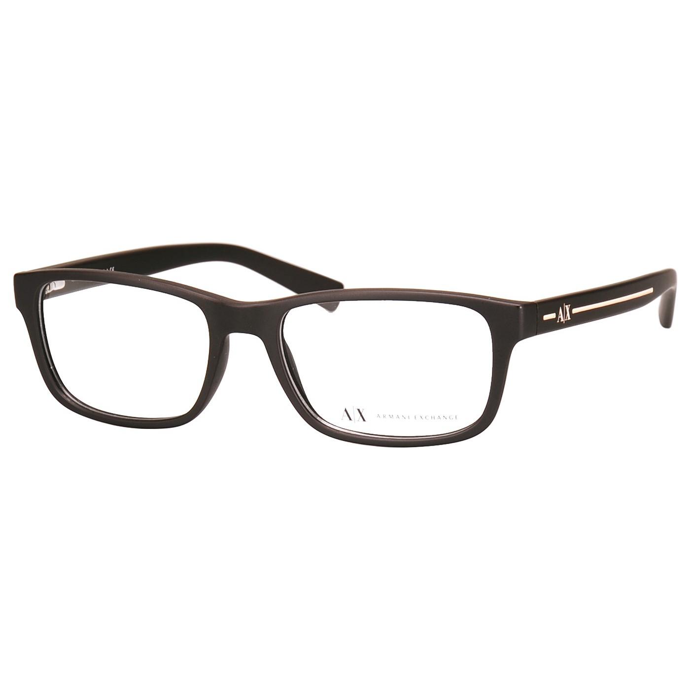 Óculos de Grau Armani Exchange Marrom Fosco AX3021 Masculino