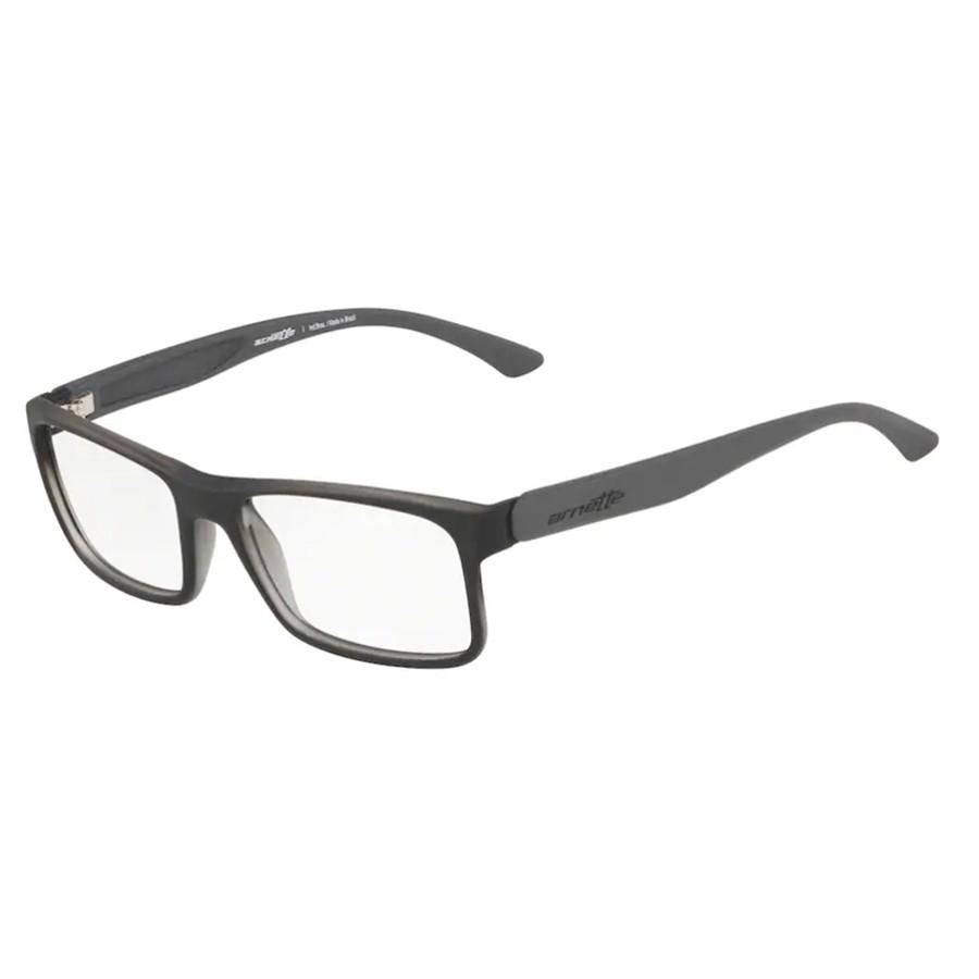 Óculos de Grau Arnette AN7069L Preto com Cinza Fosco Tamanho 53