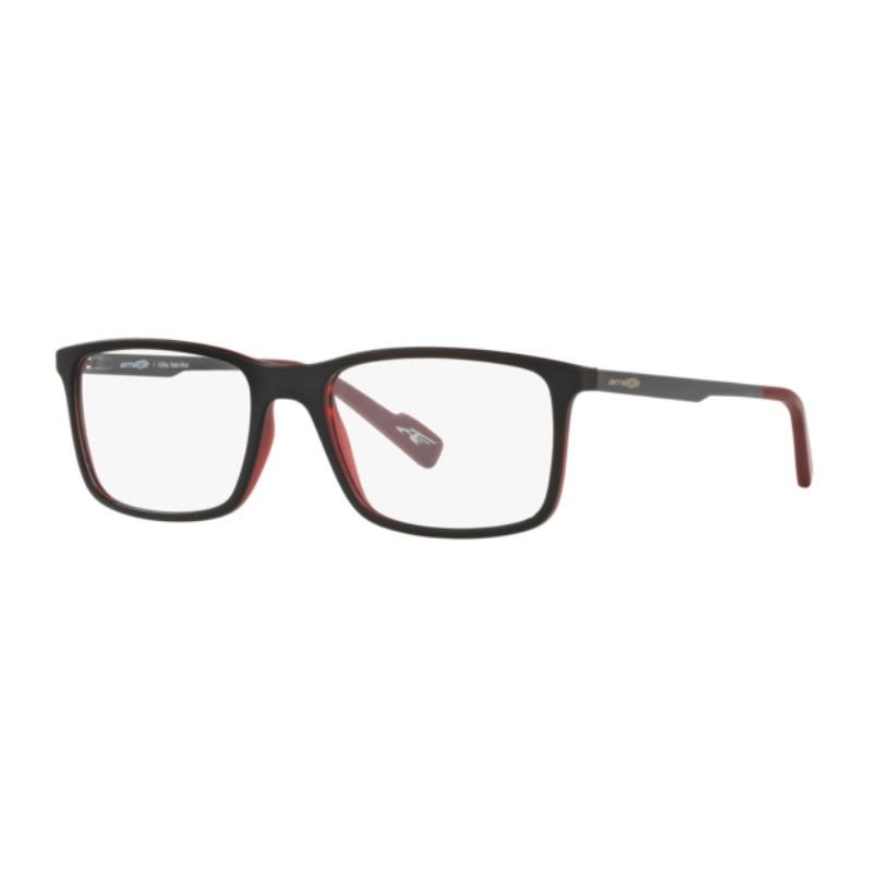 Óculos de Grau Arnette AN7114L Preto e Vermelho Fosco Tamanho 54