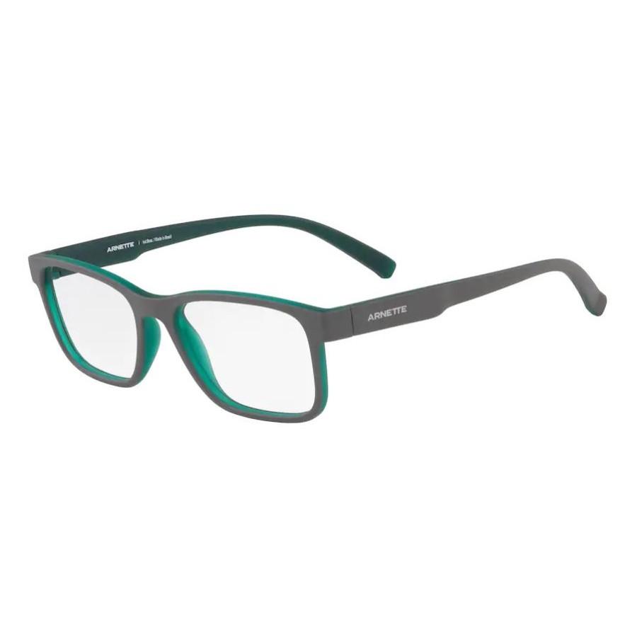 Óculos de Grau Arnette AN7168L Mooca Cinza com Verde Fosco