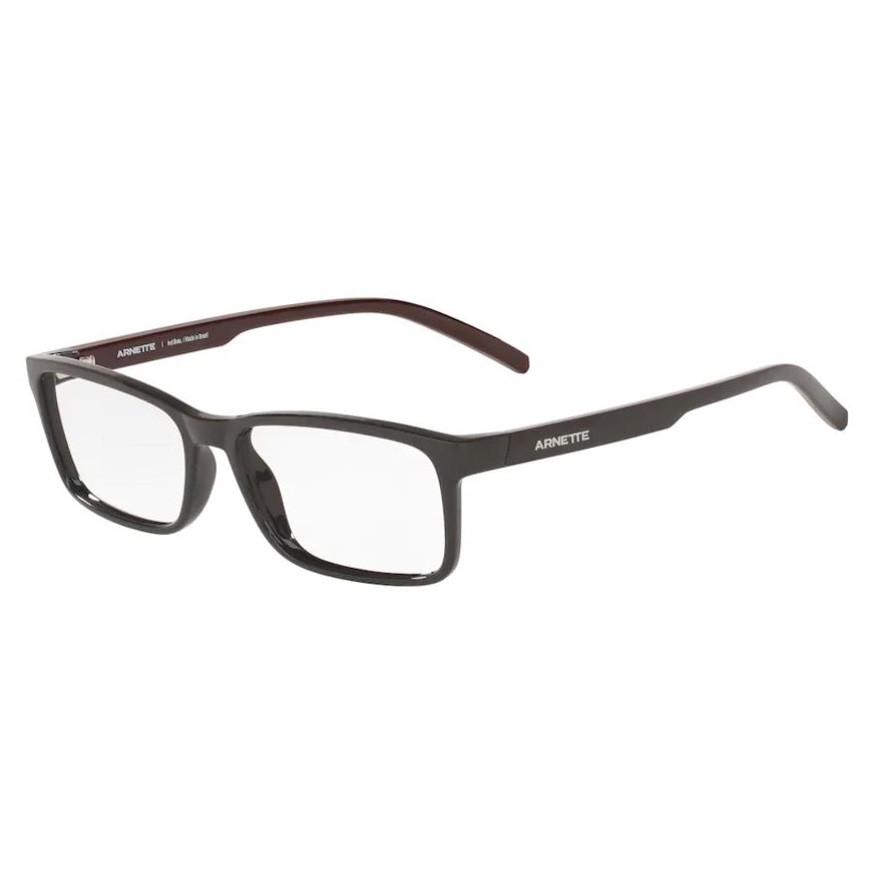 Óculos de Grau Arnette AN7178L Mooca Cinza Brilho Tamanho 55