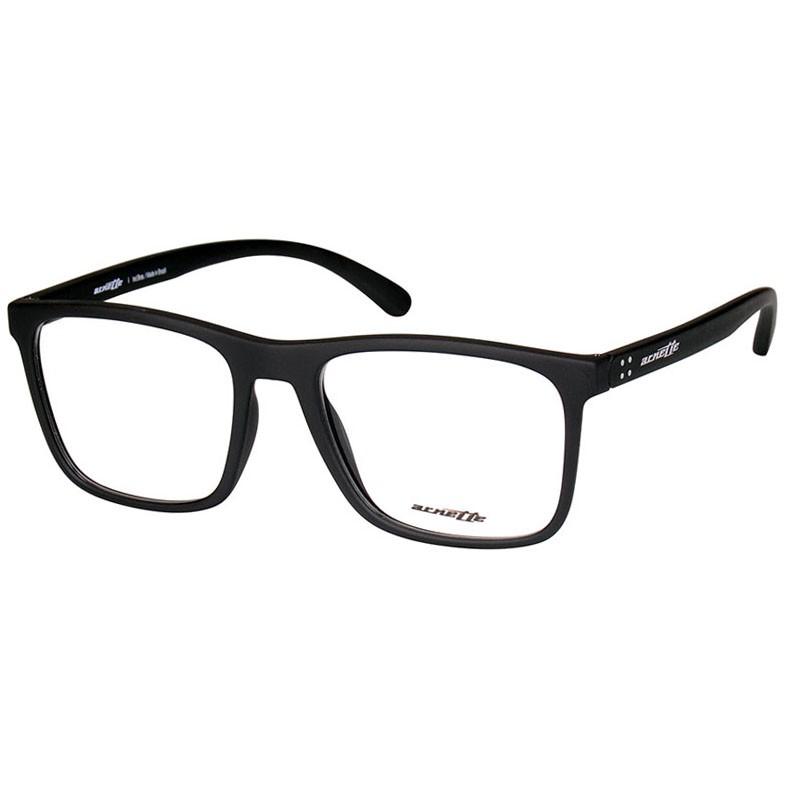 Óculos de Grau Arnette Cuz Masculino AN7132L Preto Fosco Quadrado