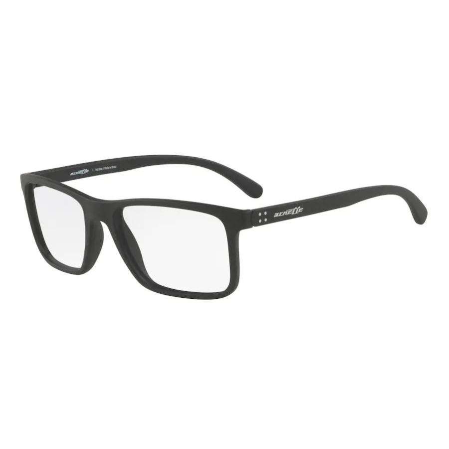 Óculos de Grau Arnette Masculino Quadrado AN7142L Preto Fosco