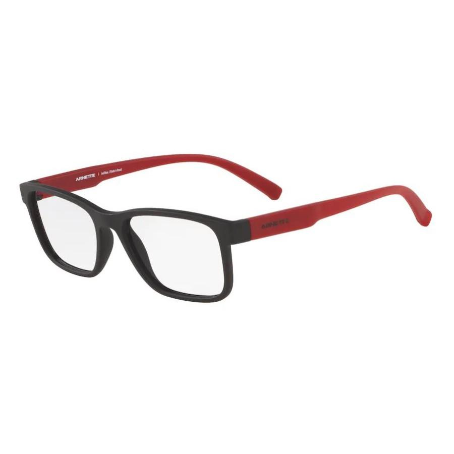 Óculos de Grau Arnette Mooca AN7168L Preto Fosco com Vermelho