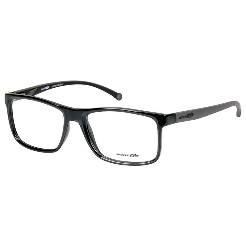 Óculos de Grau Arnette Quadrado AN7113L Preto Brilho Masculino