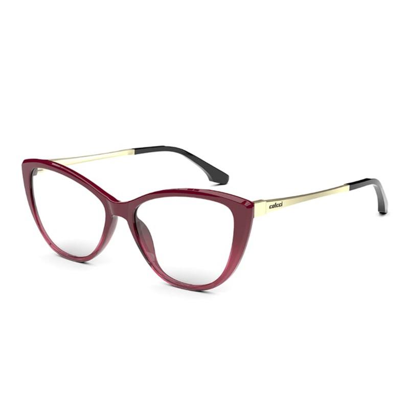 Óculos de Grau Colcci Agatha RX C6147 Gatinho Bordô Brilho