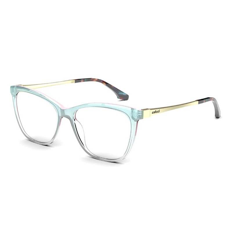 Óculos de Grau Colcci Marie 2 Azul Degradê Transparente