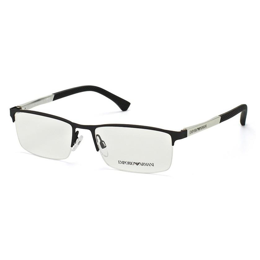 Óculos de Grau Empório Armani EA1041 Retangular Preto Fosco