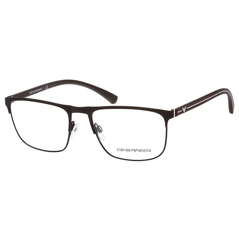 Óculos de Grau Empório Armani EA1079 Metal Preto Fosco Tamanho 55