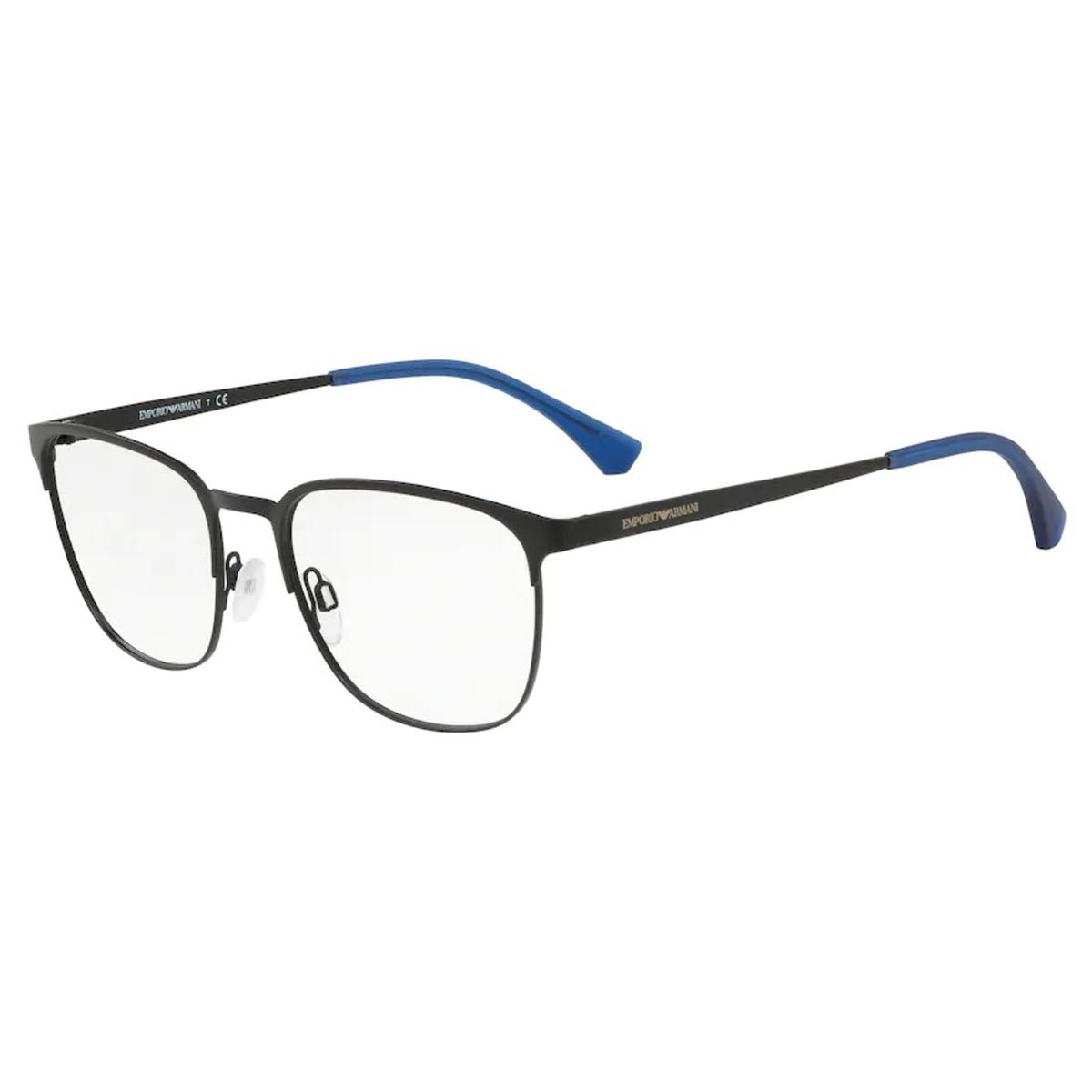 Óculos de Grau Empório Armani EA1081 Metal Preto Fosco