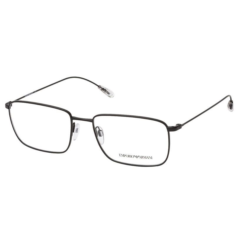 Óculos de Grau Empório Armani EA1106 Metal Preto Fosco Tamanho 57