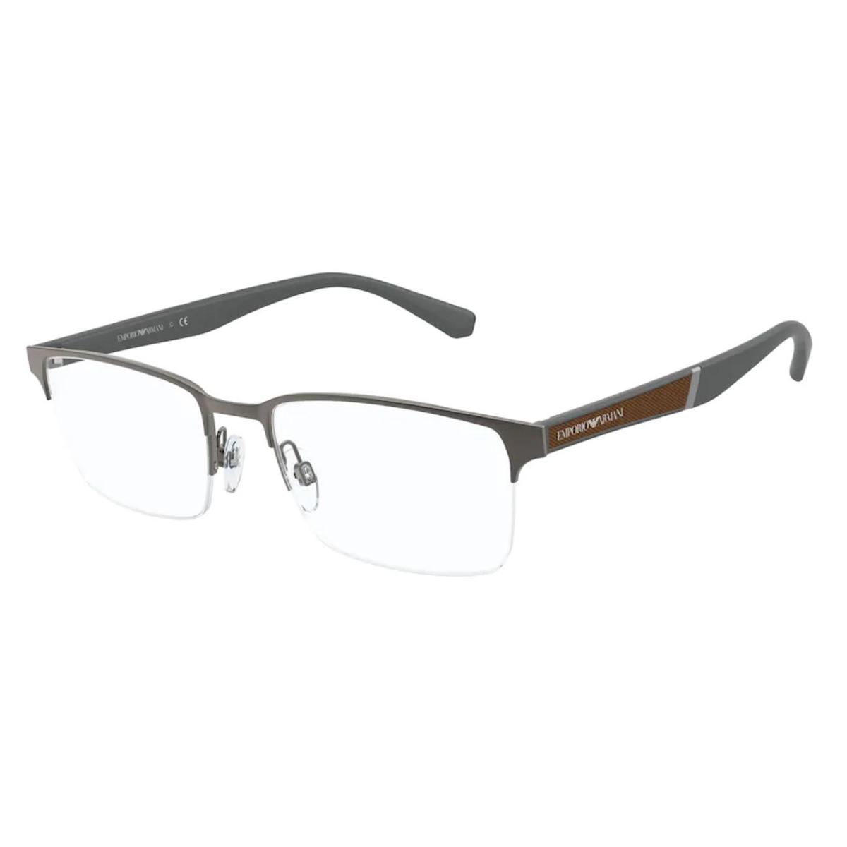 Óculos de Grau Empório Armani EA1113 Metal Cinza Fosco Grande