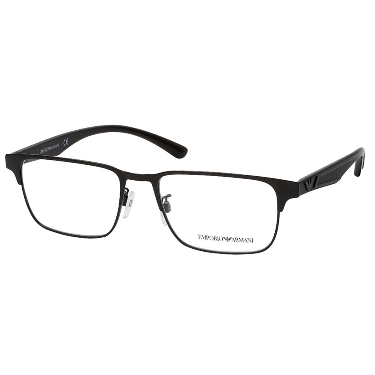 Óculos de Grau Empório Armani EA1121 Metal Preto Brilho Quadrado
