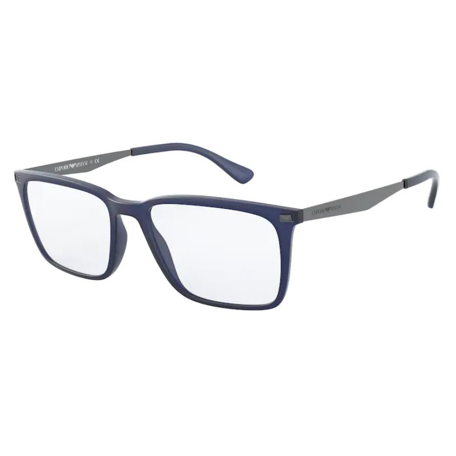 Óculos de Grau Empório Armani EA3169 Azul Jeans Fosco Quadrado