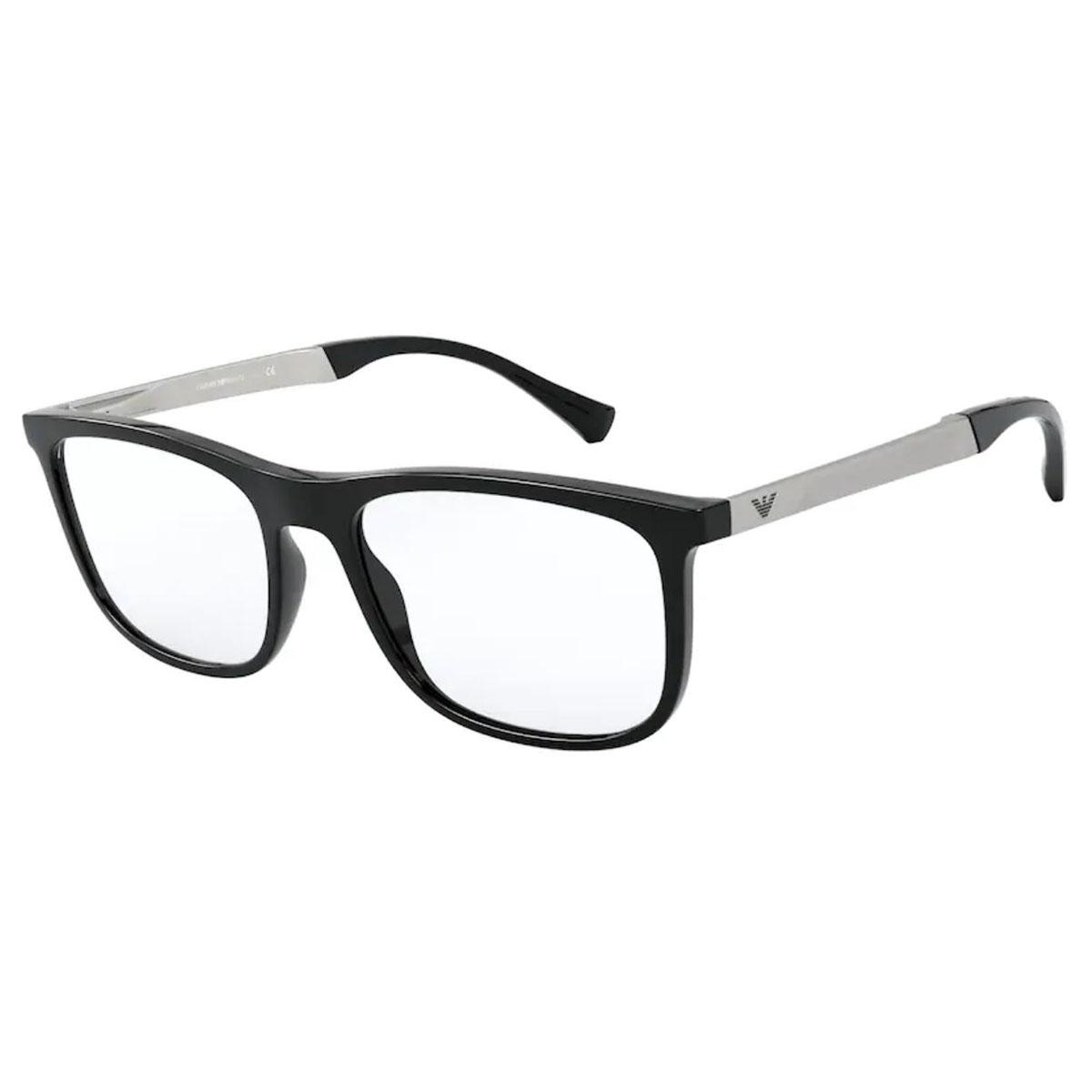 Óculos de Grau Empório Armani EA3170 Preto Brilho Tamanho 53