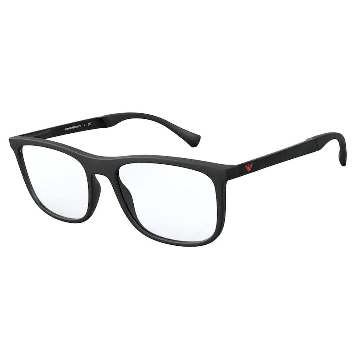 Óculos de Grau Empório Armani EA3170 Preto Fosco Quadrado