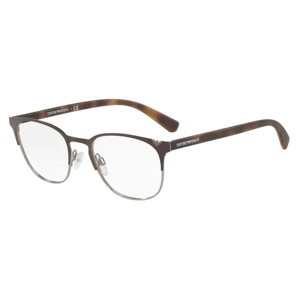 Óculos de Grau Empório Armani Redondo EA1059 Marrom Fosco
