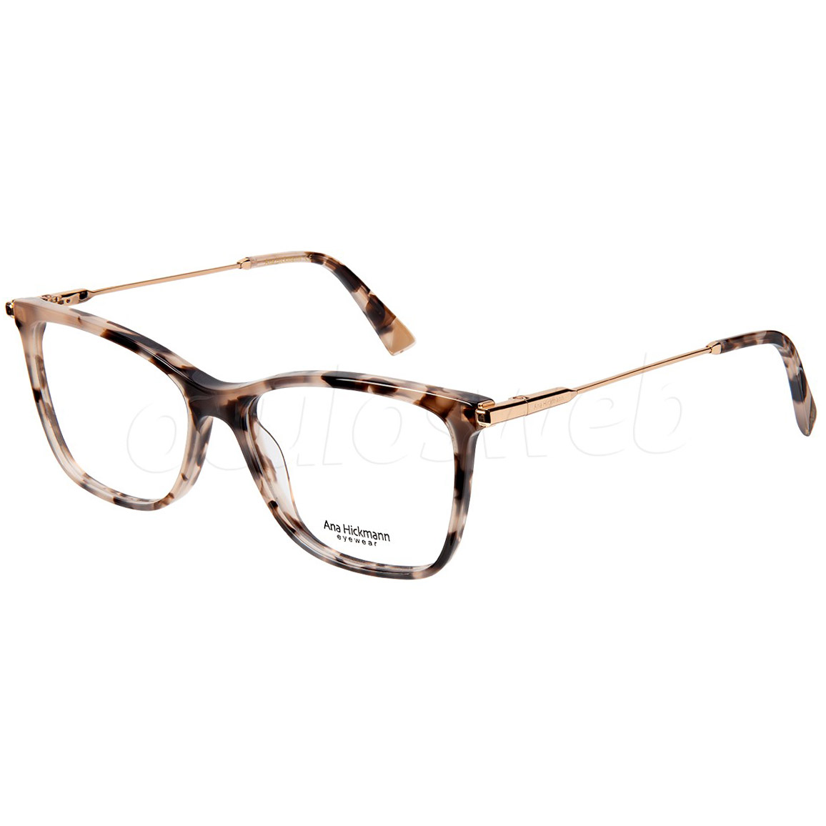 Óculos de Grau Feminino Ana Hickmann AH6406 Marrom Havana