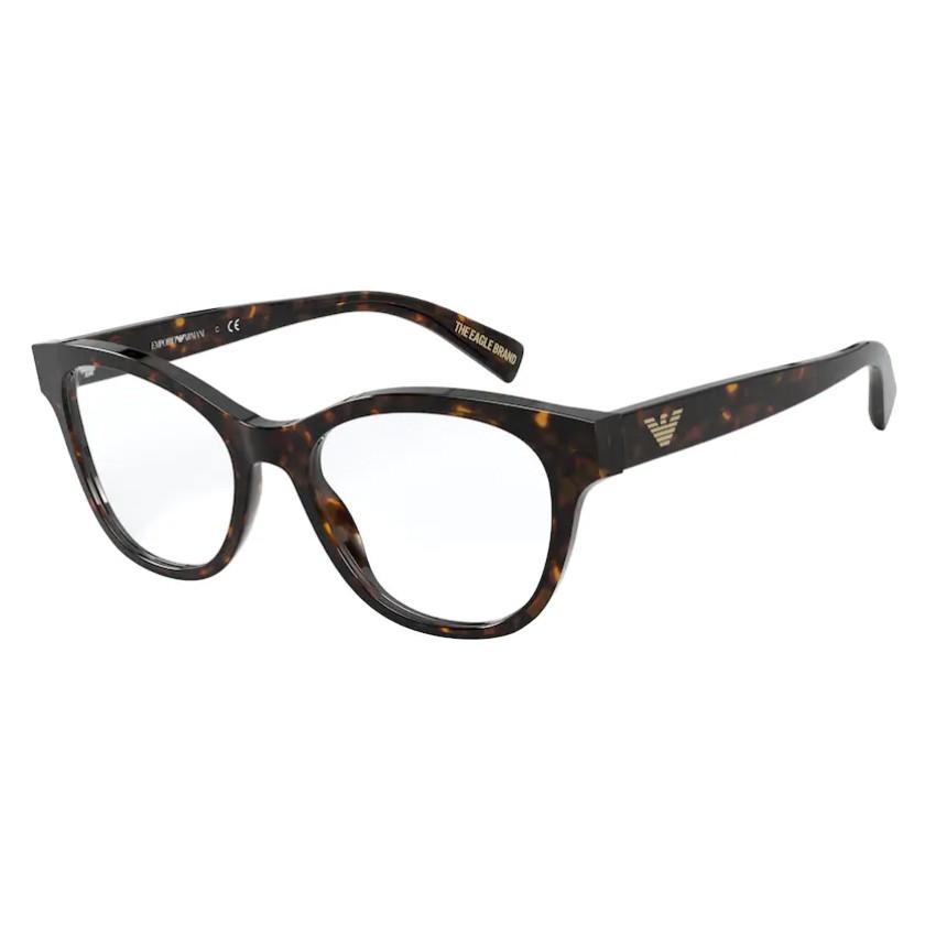 Óculos de Grau Feminino Empório Armani EA3162 Marrom Havana Brilho