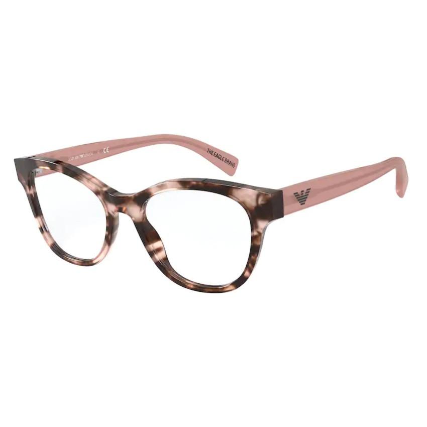 Óculos de Grau Feminino Empório Armani EA3162 Rosa Havana