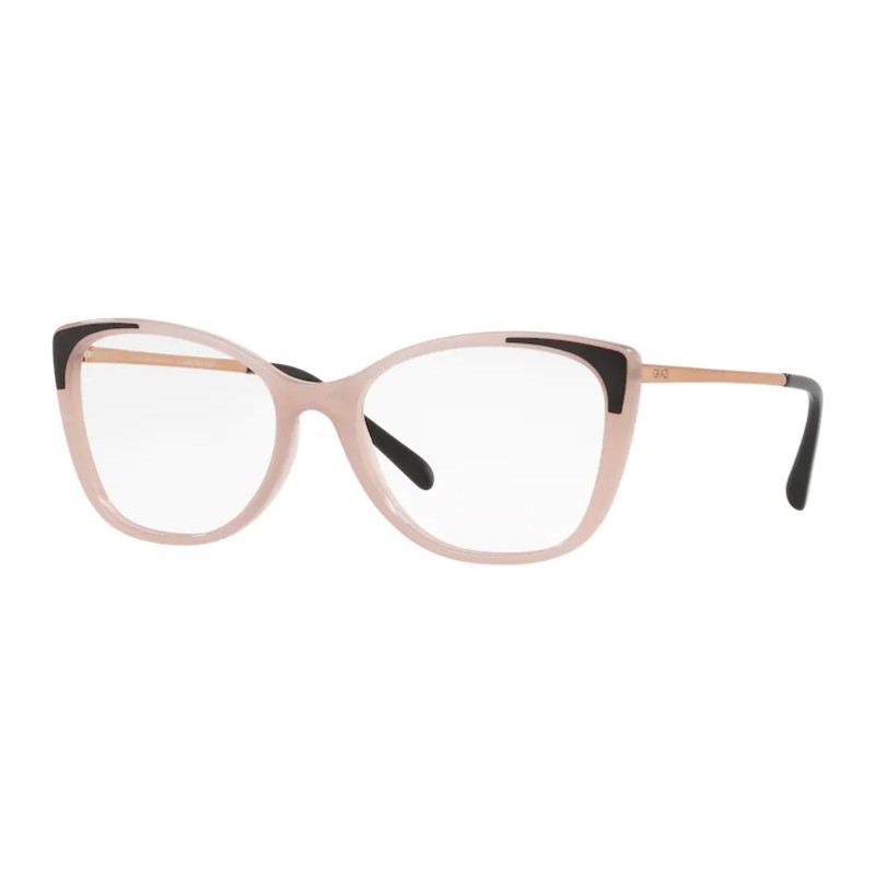 Óculos de Grau Feminino Gatinho Grazi GZ3055 Nude Brilho com Preto