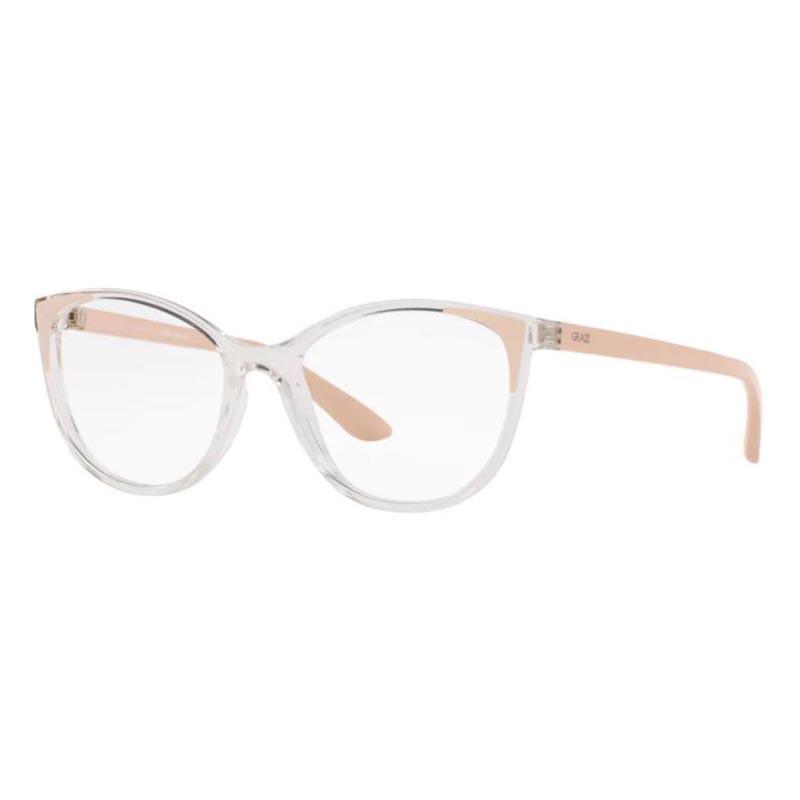 Óculos de Grau Feminino Grazi Gatinho GZ3057 Transparente com Nude