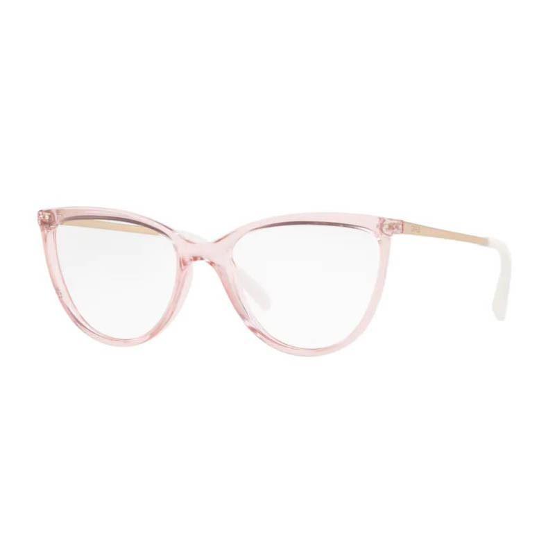 Óculos de Grau Feminino Grazi Gatinho GZ3059B Rosa Translúcido