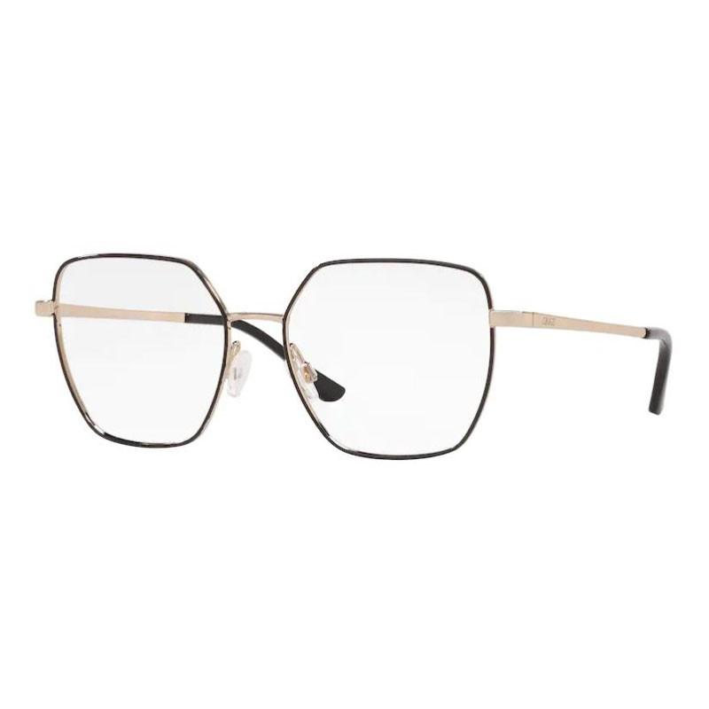 Óculos de Grau Feminino Grazi GZ1014 Preto com Dourado Metal