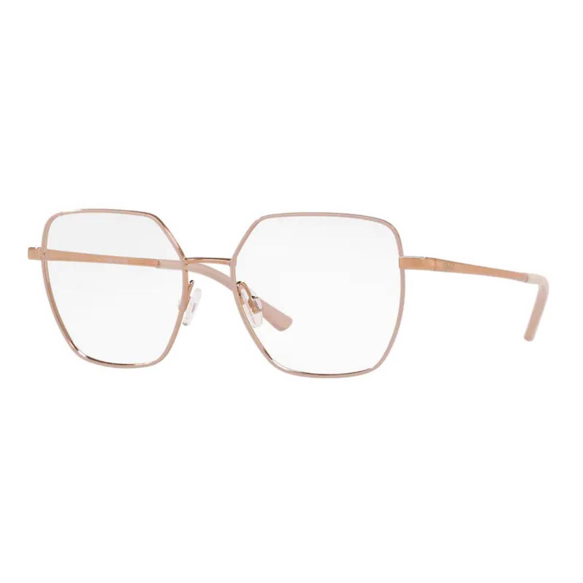 Óculos de Grau Feminino Grazi GZ1014 Quadrado Dourado com Nude