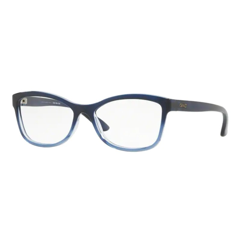 Óculos de Grau Feminino Grazi GZ3036 Azul Translúcido Gradiente