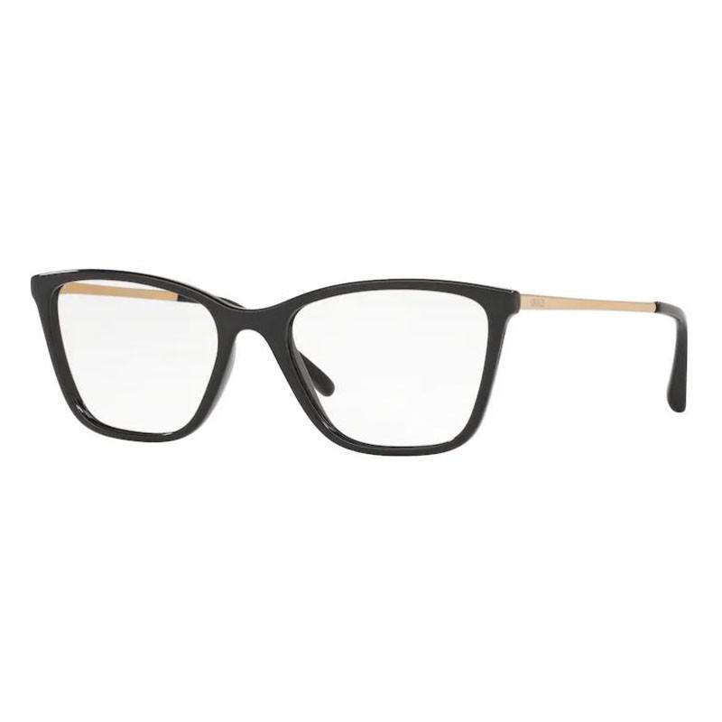 Óculos de Grau Feminino Grazi GZ3051 Preto Brilho e Dourado