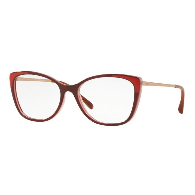 Óculos de Grau Feminino Grazi GZ3055 Gatinho Vermelho Brilho