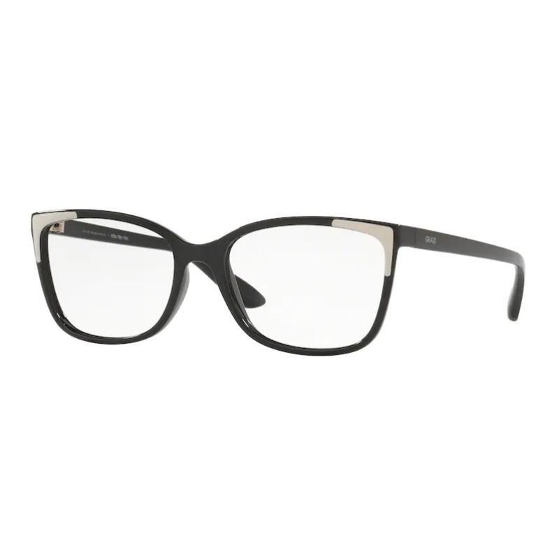 Óculos de Grau Feminino Grazi GZ3058 Preto Brilho com Nude